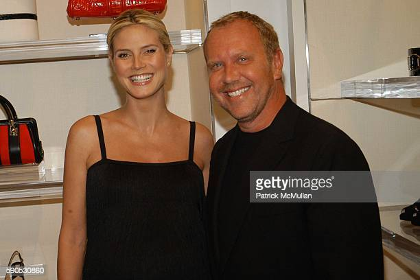 Heidi Klum and Michael Kors attend Heidi Klum and Michael Kors from the Emmy nominated Project Runway host an Intimate Summer Cocktail Party at...