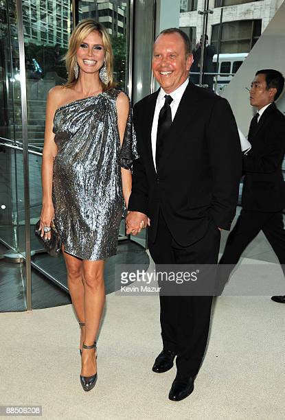 Heidi Klum and Michael Kors attends the 2009 CFDA Fashion Awards at Alice Tully Hall, Lincoln Center on June 15, 2009 in New York City.