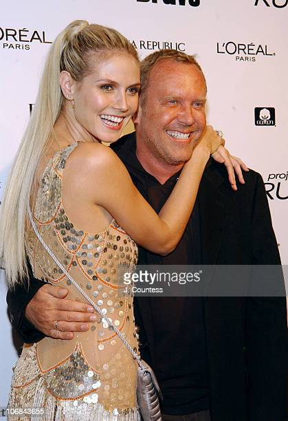 Heidi Klum and Michael Kors during Heidi Klum and Bravo Celebrate the Launch of the New Bravo Series Project Runway After Party at PM Nightclub in...