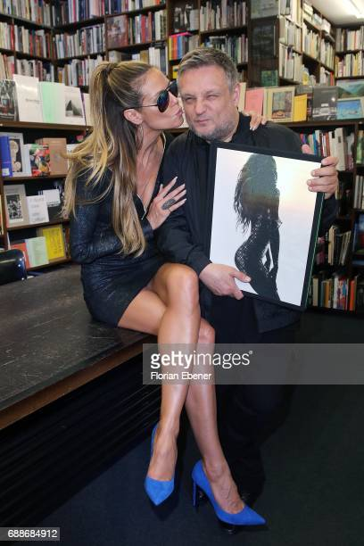 Heidi Klum and photographer Rankin celebrate the release of the new book 'Heidi Klum By Rankin' at Walter Koenig book store on May 26 2017 in Cologne...