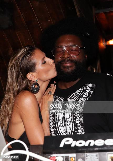 Heidi Klum and Questlove attend the Harper's Bazaar ICONS After Party on September 7, 2018 in New York City.