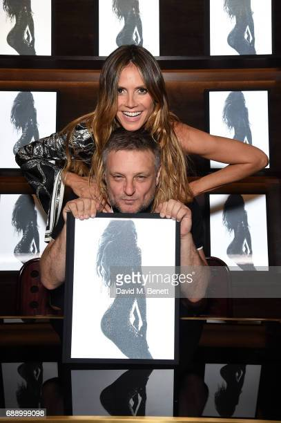 Heidi Klum and Rankin attend the launch of new book Heidi Klum By Rankin at Maison Assouline on May 27 2017 in London England
