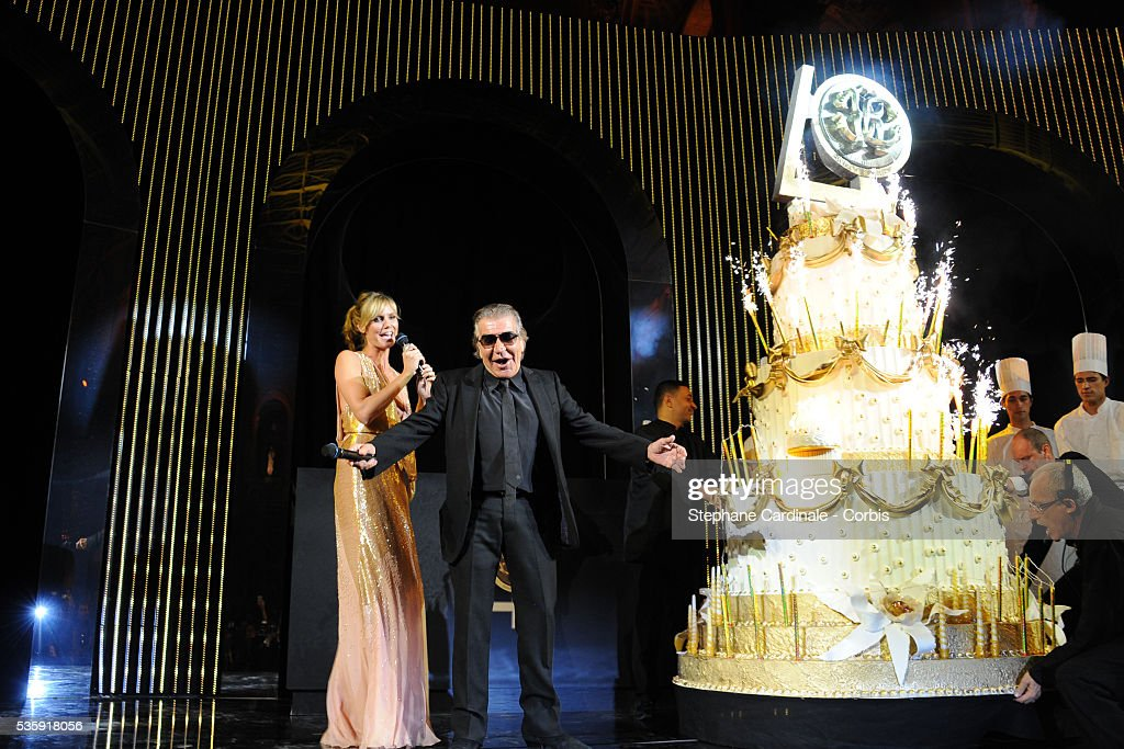 Heidi Klum and Roberto Cavalli attend the Roberto Cavalli Celebrate 40 Party at 'Les Beaux-Arts' in Paris.