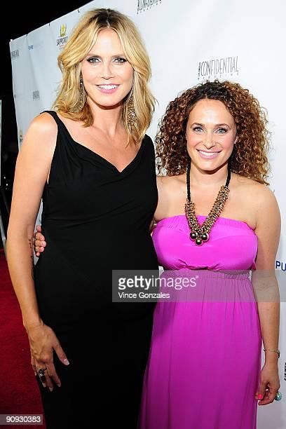 Heidi Klum and Sari Tuschman attend Los Angeles Confidential magazine's annual pre-Emmy party, hosted by Heidi Klum and Niche Media CEO Jason Binn,...