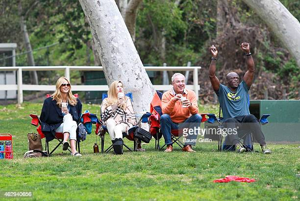 Heidi Klum and Seal are seen on February 07 2015 in Los Angeles California