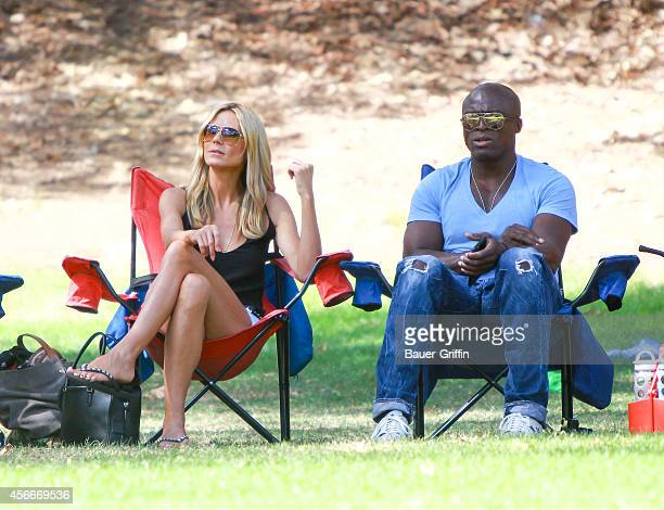 Heidi Klum and Seal are seen on October 04 2014 in Los Angeles California