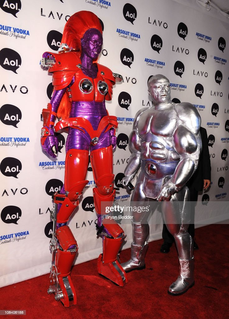 Heidi Klum and Seal attend Heidi Klum's 2010 Halloween Party at Lavo on October 31, 2010 in New York City.