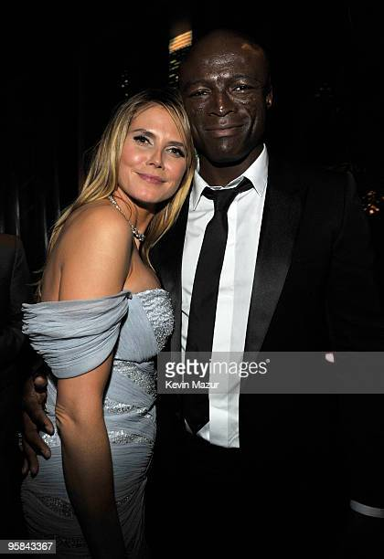 Heidi Klum and Seal attends the InStyle and Warner Bros. 67th Annual Golden Globes post-party held at the Oasis Courtyard at The Beverly Hilton Hotel...