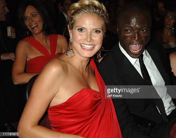 Heidi Klum and Seal during 58th Annual Primetime Emmy Awards Audience at The Shrine Auditorium in Los Angeles California United States