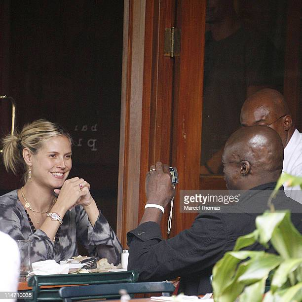 Heidi Klum and Seal during Heidi Klum and Seal Sighting at Bar Pitti in New York City August 6 2006 at Bar Pitti in New York City United States