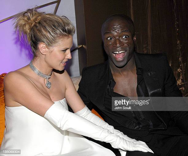 Heidi Klum and Seal during In Style and Warner Bros 2007 Golden Globe After Party Inside at Beverly Hilton Hotel in Beverly Hills California United...