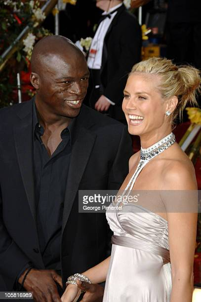 Heidi Klum and Seal during The 63rd Annual Golden Globe Awards Arrivals at Beverly Hilton Hotel in Beverly Hills California United States