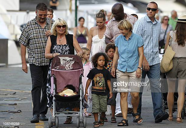 Heidi Klum and Seal on holiday with their kids Leni Henry Joahn and Lou on August 4 2010 in Portofino Italy