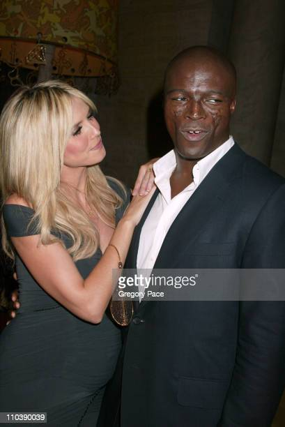 Heidi Klum and Seal pregnant during 2005 CFDA Fashion Awards Inside at New York Public Library in New York City New York United States
