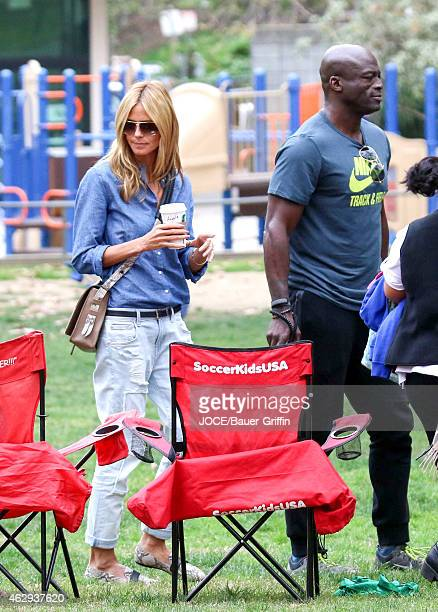 Heidi Klum and Seal seen on February 07 2015 in Los Angeles California