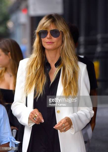 Heidi Klum and seen out and about in Manhattan on June 19 2019 in New York City