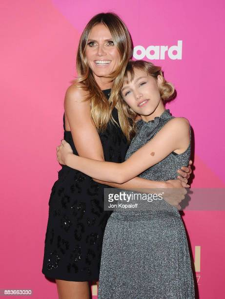 Heidi Klum and singer Grace VanderWaal attend Billboard Women In Music 2017 at The Ray Dolby Ballroom at Hollywood Highland Center on November 30...