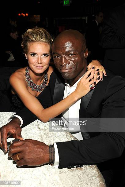 Heidi Klum and singer Seal attend the Fox Broadcasting Company, Twentieth Century Fox Television and FX 2010 Emmy Nominee Party held at Cicada on...