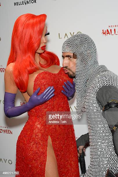Heidi Klum and Thomas Hayo attend her Halloween Party on October 31 2015 in New York City
