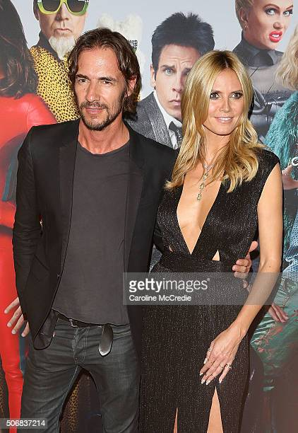 Heidi Klum and Thomas Hayo attend the Sydney Fan Screening Event of the Paramount Pictures film 'Zoolander No 2' at the State Theatre on January 26...