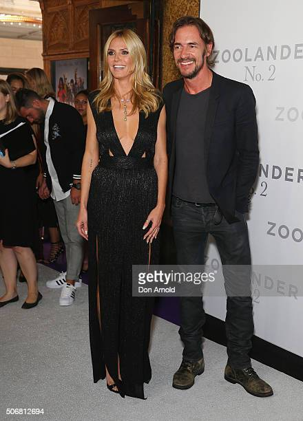 Heidi Klum and Thomas Hayo attend the Sydney Fan Screening of the Paramount Pictures film 'Zoolander No 2' at the State Theatre on January 26 2016 in...