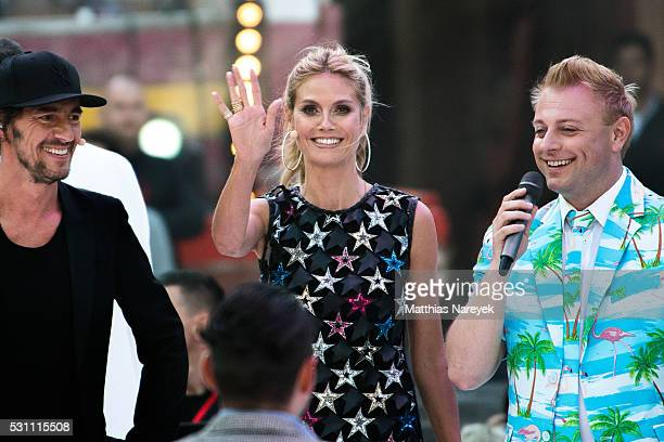 Heidi Klum and Thomas Hayo during the finals of 'Germany's Next Topmodel' at Coliseo Balear on May 12 2016 in Palma de Mallorca Spain