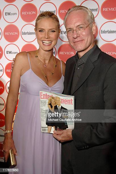 Heidi Klum and Tim Gunn during Entertainment Weekly Magazine 4th Annual Pre-Emmy Party - Red Carpet at Republic in Los Angeles, California, United...