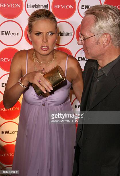 Heidi Klum and Tim Gunn during Entertainment Weekly's 4th Annual Pre-Emmy Party at Republic in West Hollywood, California, United States.