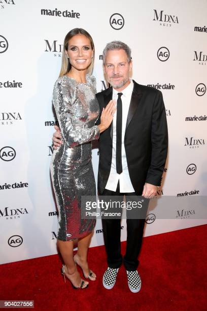 Heidi Klum and Tom Bachik attend the Marie Claire's Image Makers Awards 2018 on January 11 2018 in West Hollywood California