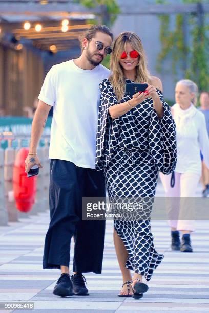 Heidi Klum and Tom Kaulitz are seen in Manhattan on July 2, 2018 in New York City.
