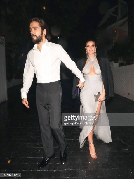 Heidi Klum and Tom Kaulitz are seen on January 07 2019 in Los Angeles California