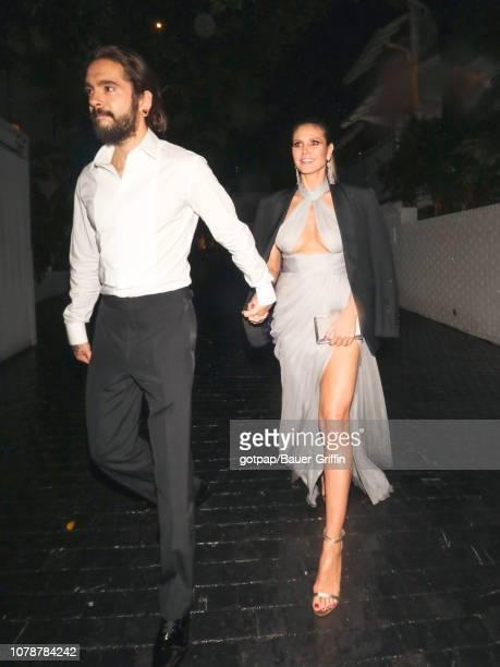Heidi Klum and Tom Kaulitz are seen on January 07, 2019 in Los Angeles, California.