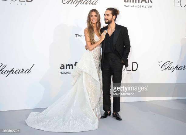 Heidi Klum and Tom Kaulitz arrive at the amfAR Gala Cannes 2018 at Hotel du Cap-Eden-Roc on May 17, 2018 in Cap d'Antibes, France.