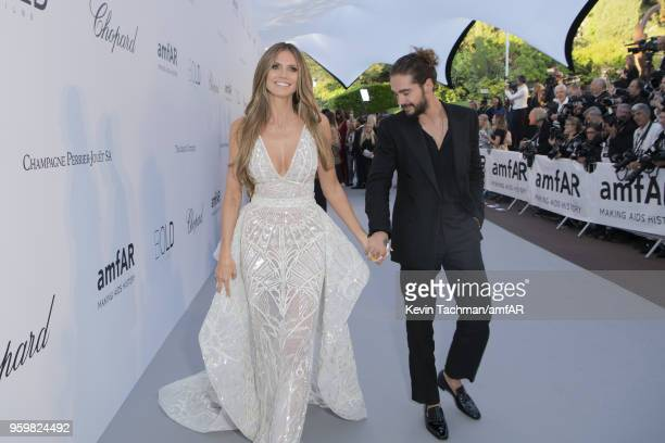Heidi Klum and Tom Kaulitz arrive at the amfAR Gala Cannes 2018 at Hotel du CapEdenRoc on May 17 2018 in Cap d'Antibes France