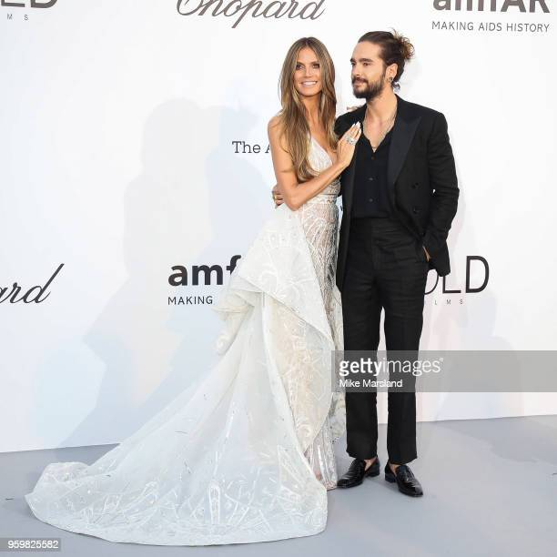 Heidi Klum and Tom Kaulitz arrive at the amfAR Gala Cannes 2018 at Hotel du Cap-Eden-Roc on May 17, 2018 in Cap d'Antibes, France.
