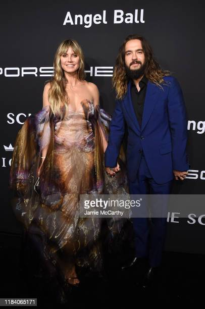 Heidi Klum and Tom Kaulitz arrive at the Angel Ball 2019 hosted by Gabrielle's Angel Foundation at Cipriani Wall Street on October 28 2019 in New...