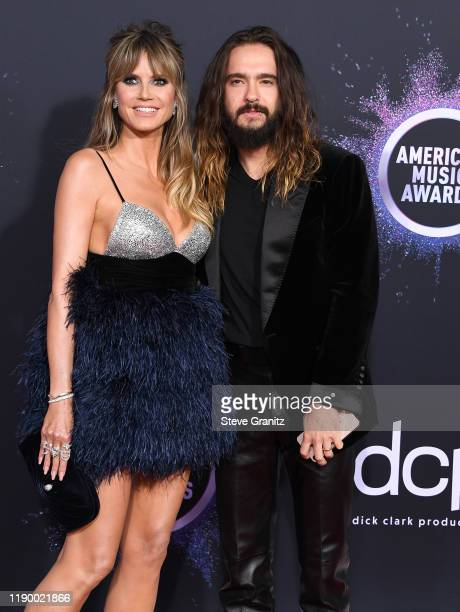 Heidi Klum and Tom Kaulitz arrives at the 2019 American Music Awards at Microsoft Theater on November 24 2019 in Los Angeles California