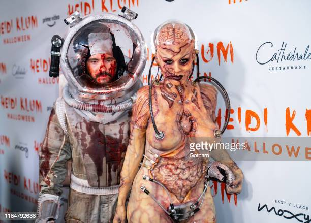 Heidi Klum and Tom Kaulitz attend Heidi Klum's 20th Annual Halloween Party at Cathédrale on October 31 2019 in New York City