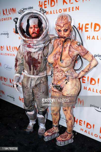 Heidi Klum and Tom Kaulitz attend Heidi Klum's 20th Annual Halloween Party at Cathédrale on October 31, 2019 in New York City.