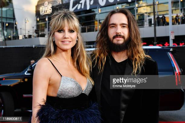 Heidi Klum and Tom Kaulitz attend the 2019 American Music Awards at Microsoft Theater on November 24, 2019 in Los Angeles, California.