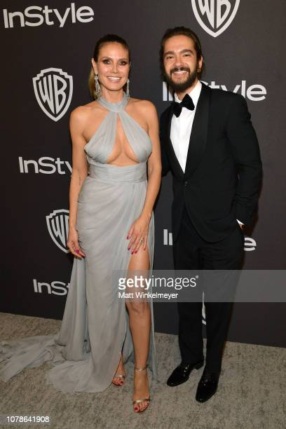 Heidi Klum and Tom Kaulitz attend the 2019 InStyle and Warner Bros 76th Annual Golden Globe Awards PostParty at The Beverly Hilton Hotel on January 6...