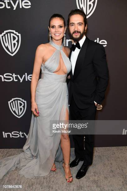 Heidi Klum and Tom Kaulitz attend the 2019 InStyle and Warner Bros. 76th Annual Golden Globe Awards Post-Party at The Beverly Hilton Hotel on January...