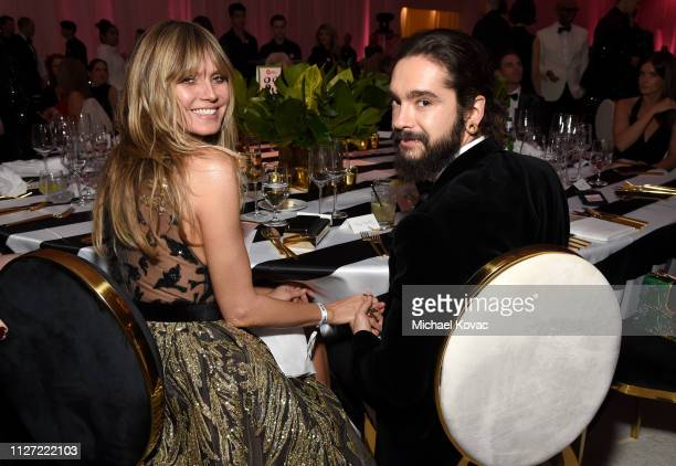 Heidi Klum and Tom Kaulitz attend the 27th annual Elton John AIDS Foundation Academy Awards Viewing Party sponsored by IMDb and Neuro Drinks...