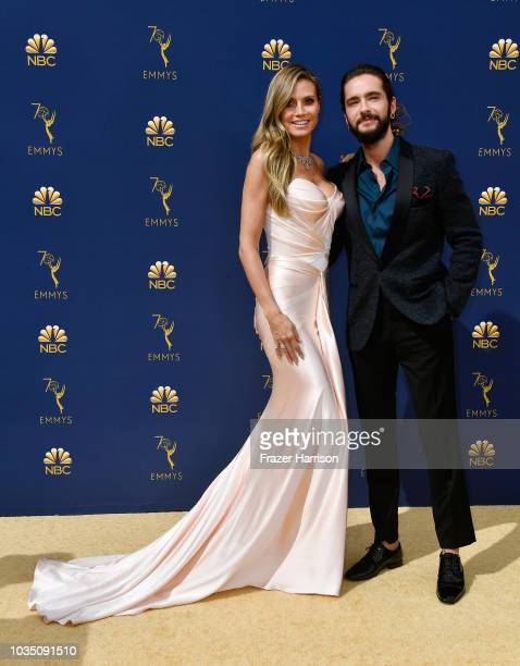 Heidi Klum and Tom Kaulitz attend the 70th Emmy Awards at Microsoft Theater on September 17, 2018 in Los Angeles, California.