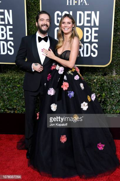 Heidi Klum and Tom Kaulitz attend the 76th Annual Golden Globe Awards at The Beverly Hilton Hotel on January 6 2019 in Beverly Hills California