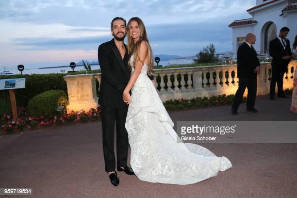 Heidi Klum and Tom Kaulitz attend the amfAR Gala Cannes 2018 dinner at Hotel du Cap-Eden-Roc on May 17, 2018 in Cap d'Antibes, France.