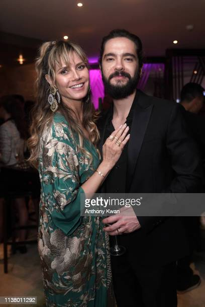 "Heidi Klum and Tom Kaulitz attend the celebrating party of The Jewelry of Lorraine Schwartz, ""Arts In All Its Forms"" at Artus on March 24, 2019 in..."