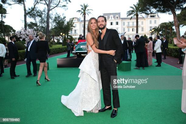 Heidi Klum and Tom Kaulitz attend the cocktail at the amfAR Gala Cannes 2018 at Hotel du CapEdenRoc on May 17 2018 in Cap d'Antibes France