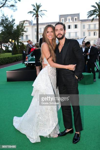Heidi Klum and Tom Kaulitz attend the cocktail at the amfAR Gala Cannes 2018 at Hotel du Cap-Eden-Roc on May 17, 2018 in Cap d'Antibes, France.