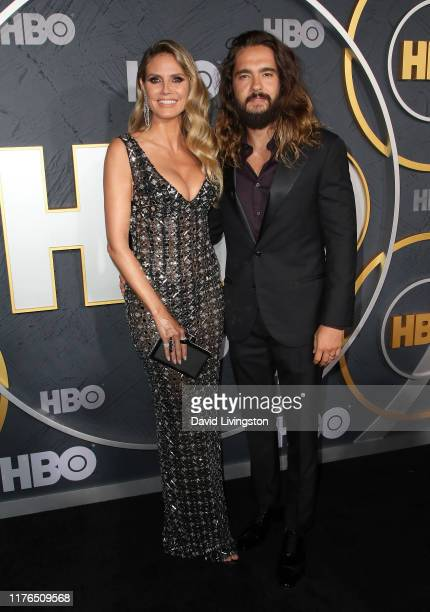 Heidi Klum and Tom Kaulitz attend the HBO's Post Emmy Awards Reception at The Plaza at the Pacific Design Center on September 22, 2019 in Los...